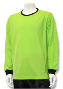 Long-sleeve solid goalkeeper jersey, in lime