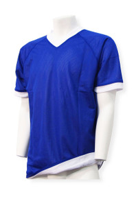 Reversible Soccer Jersey in Royal/White