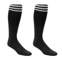 Euro Striped Soccer Socks in Black/White