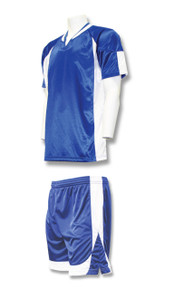 Imperial soccer uniform kit in royal/white