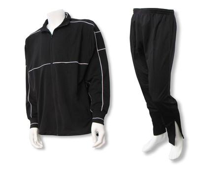 Sparta soccer warm-up jacket-pant set in black/black