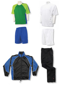 Seattle soccer team package, with royal shorts