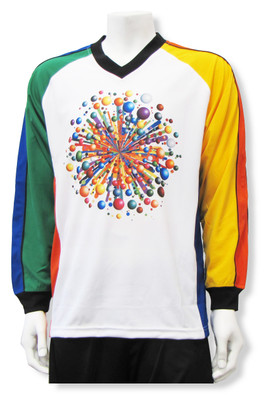 Gumball Wizard long-sleeve soccer goalie jersey by Code Four Athletics