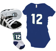 Seattle Seahawks newborn baby 12 gift pack by Code Four Athletics