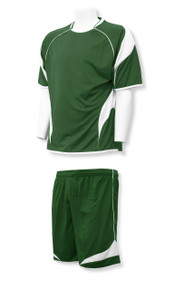 Velocity soccer uniform in forest/white