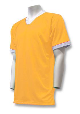 Short-Sleeve Soccer Goalie Jersey in Gold