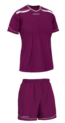 Diadora women's Treviso soccer kit, in maroon