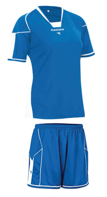Diadora women's Quadro soccer kit, in royal