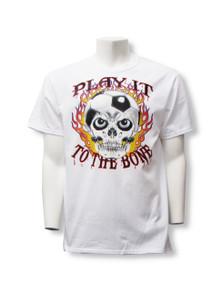 Play It To The Bone Skull soccer T-shirt