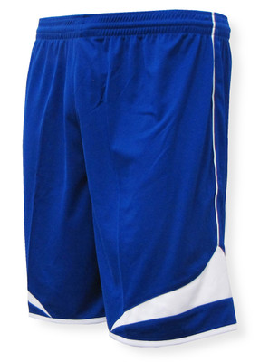 Velocity soccer shorts in royal/white