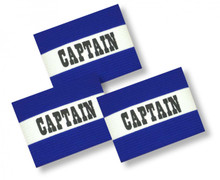 3-pk Soccer Captain's Arm Bands in royal