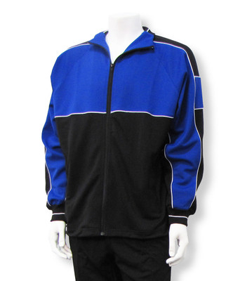 Sparta soccer warm-up jacket in royal/black