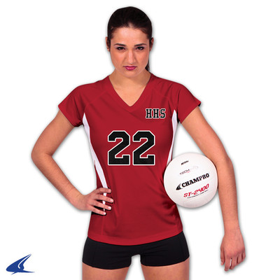 Champro volleyball uniforms, presented by Code Four Athletics