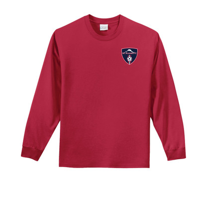 MRFC l/s cotton tee in red