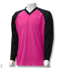 Renton soccer goalkeeper jersey in raspberry