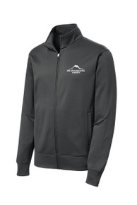 MRFC-SSC Sport Wick zip jacket in dark smoke gray