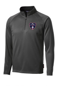 MRFC Sport-Wick 1/4-zip tech pullover in dark smoke gray
