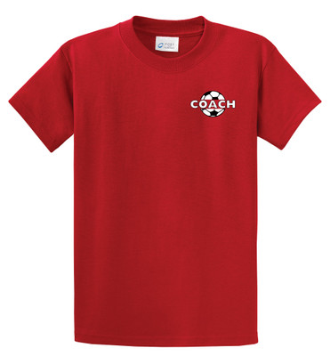Soccer Coach S/S tee in Red