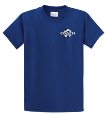 Soccer Coach S/S tee in Royal