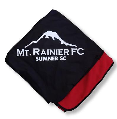 MRFC fleece/poly blanket - red