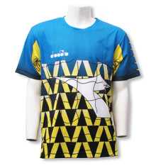 Diadora Fresco s/s goalkeeper jersey, in Columbia Blue/Matchwinner Yellow