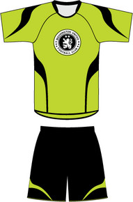 Code Four custom soccer uniform kit example