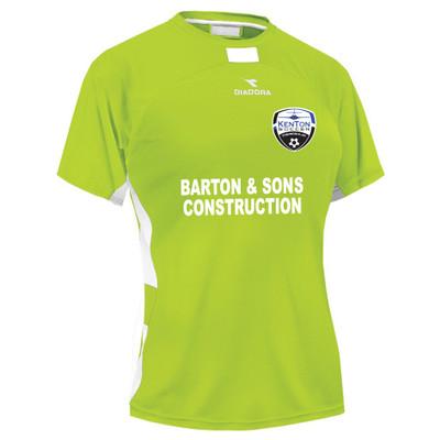 Kenton SA women's away jersey, in Seattle Green