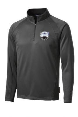 Kenton SA Sport-Wick 1/4-zip tech pullover in dark smoke gray