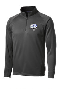 Kenton SA Sport-Wick 1/4-zip tech pullover in dark smoke gray