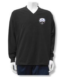 Kenton SA Warmup Pullover Top, in black