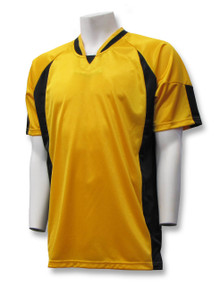Imperial soccer jersey in gold/black