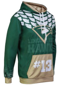 Custom sublimated hoody by Code Four Athletics