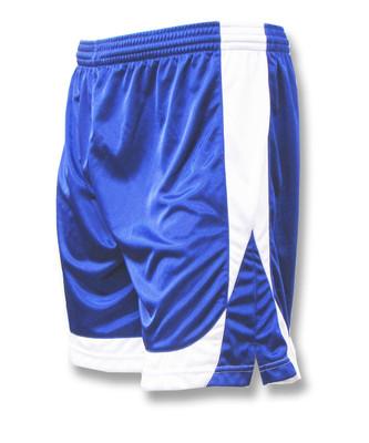 Omega soccer shorts in royal/white