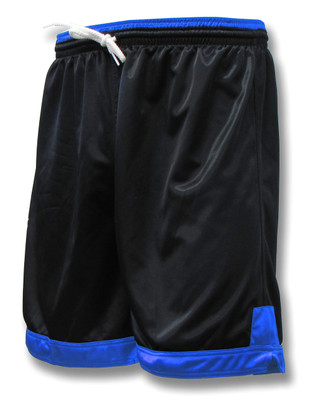 Winchester soccer shorts in black/royal