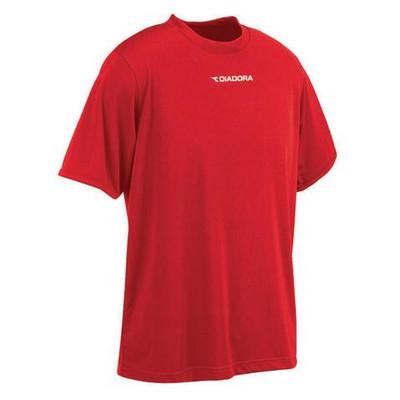 Diadora short-sleeve Leggera performance top, in red