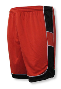 Galaxy soccer shorts in red/black