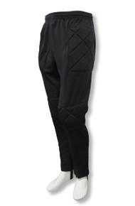 Academy soccer goalkeeper pants in black