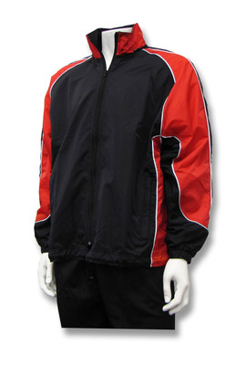 Viper soccer warm-up jacket in black/red