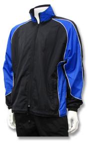 Viper soccer warm-up jacket in black/royal