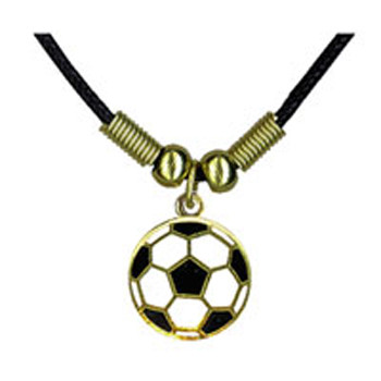 Soccer Ball Corded Necklace #264G