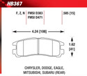 Rear Pads - HB367F.585