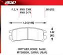 Rear Pads - HB367F.585