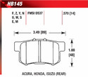 Rear Pads - HB145F.570