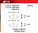 Rear Pads - HB112F.540