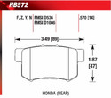 Rear Pads - HB572F.570