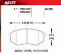 Front Pads - HB407F.602