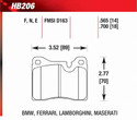 Front Pads - HB206E.565