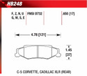 Rear Pads - HB248E.650