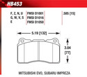 Front Pads - HB484G.670