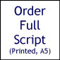 Printed Script (Two Purple Gloves)